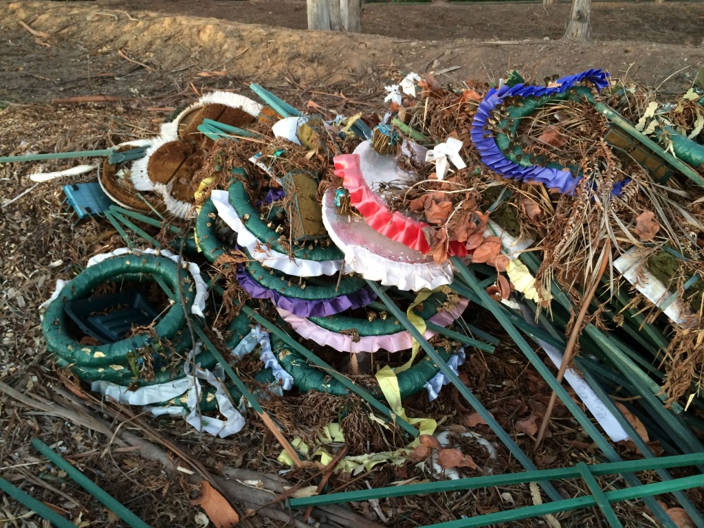 Discarded Graveside Wreaths